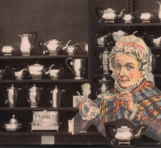 Vintage Grandma Teatime Collage