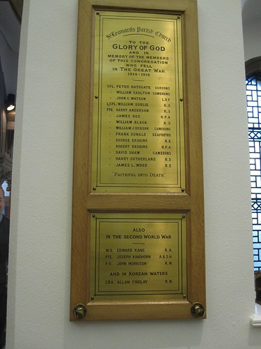 St Leonard's parish church memorial