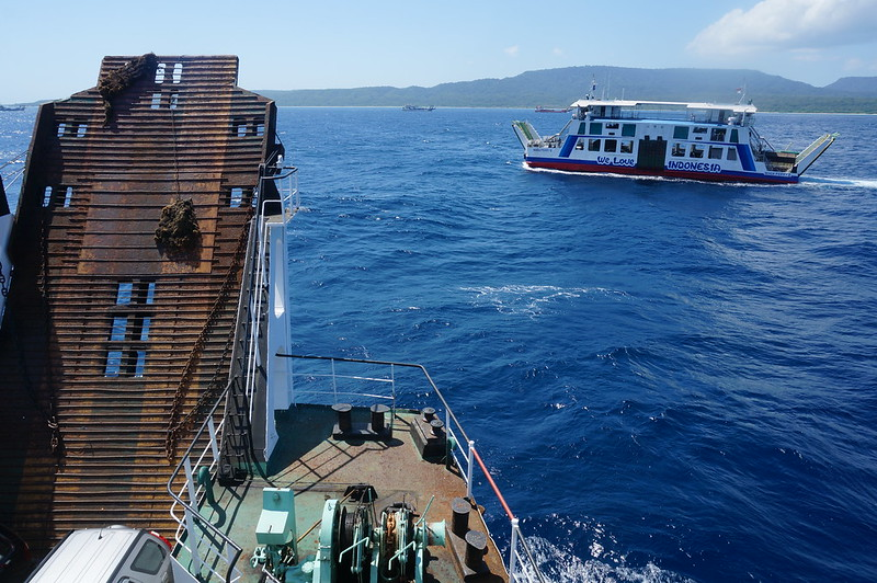 On the public ferry from Java to Bali, Indonesia