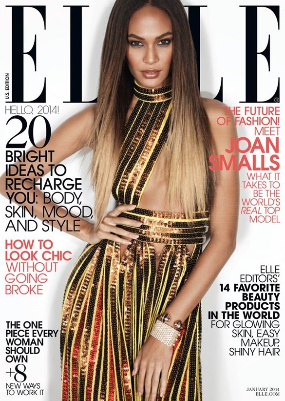 Joan Smalls on the cover of Elle