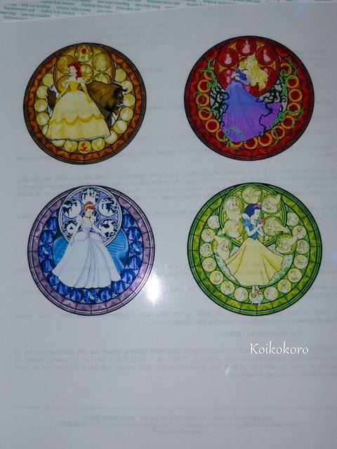 Vitraux~princesses, dans Kingdom hearts