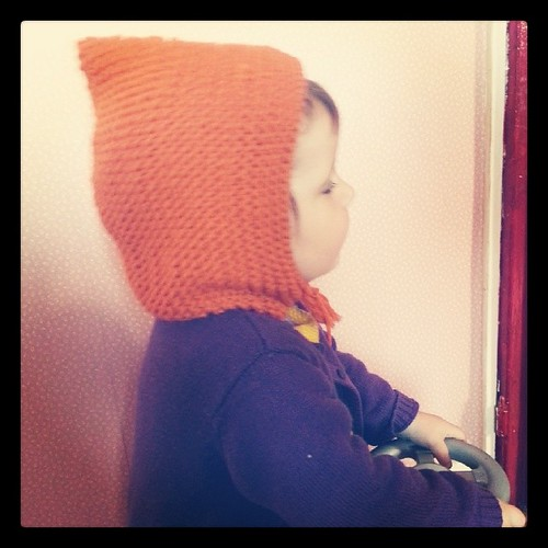 ♡ béguin finis mais bébé ne veut pas faire la photo snif ♡ #knit #tricot #beguin #phildar
