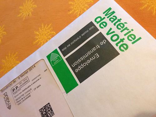 Enveloppe de vote.