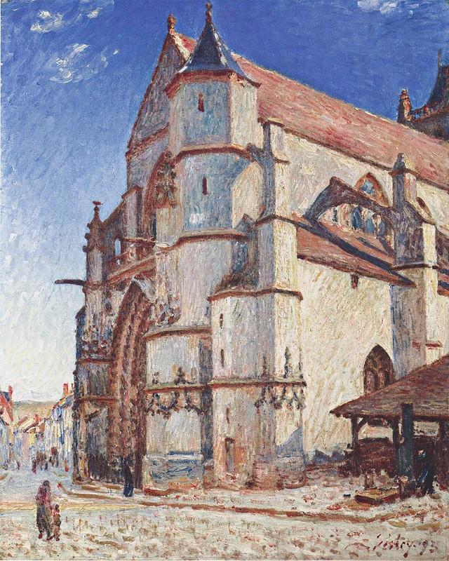 Alfred Sisley - Die Kirche von Moret im Morgengrauen (1893)