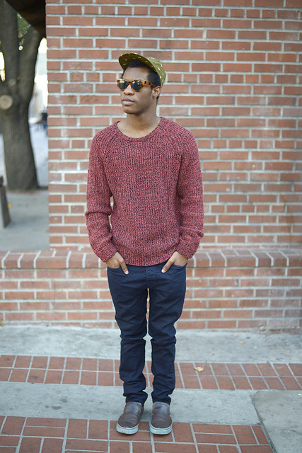 asos cap, shades of grey sweater, urban outfitters jeans, creative recreation sneakers, quay sunglasses, fashion blogger, menswear blogger