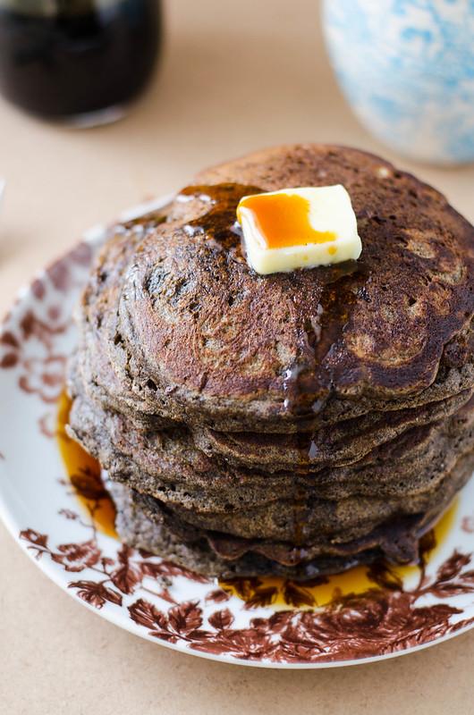 Cinnamon Pecan Buckwheat Pancakes (Gluten Free)