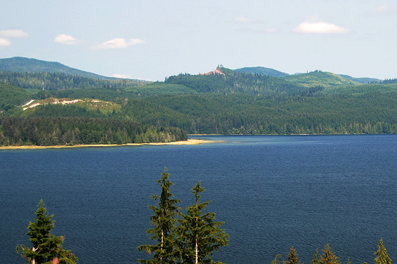 Holberg Inlet viewed from Koprino Main, near Holberg, North Vancouver Island, British Columbia