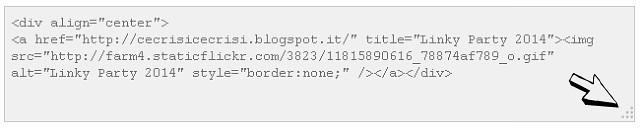 box del codice html allargato