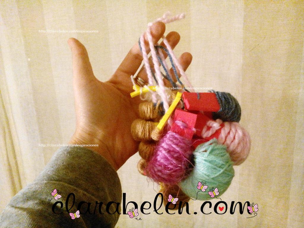 organizar restos de lana