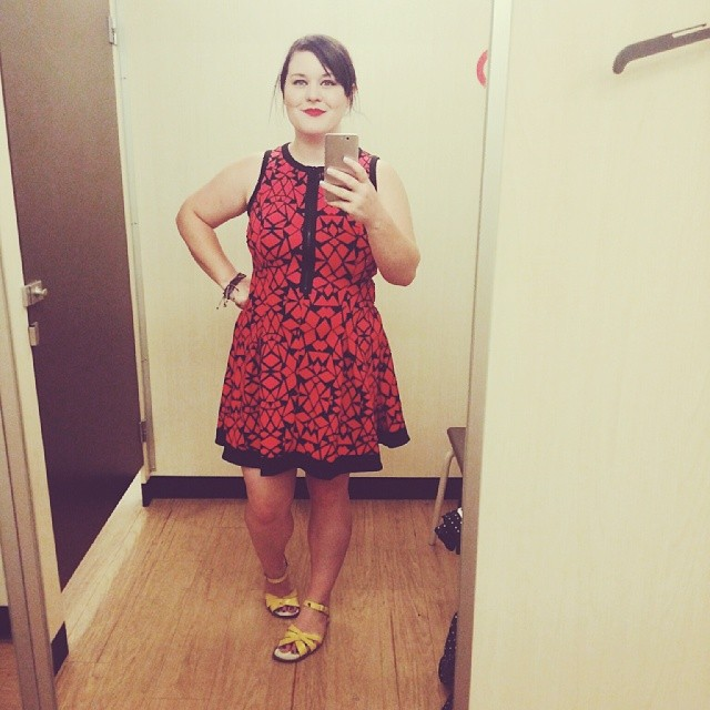 A cute dress I bought today from Target.