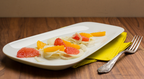 Fenchel Zitrusfrüchte Salat