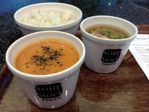 Half and Half Hokkaido Crab Bisque and Chicken Soup with 8-Vegetable