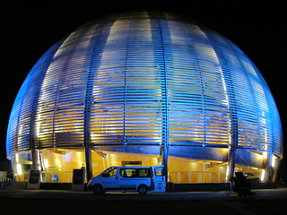 Pretty CERN Globe at night