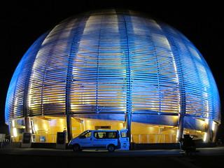 Pretty CERN Globe at night