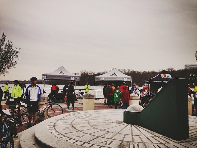 Riverside check-in for the WABA Vasa ride.