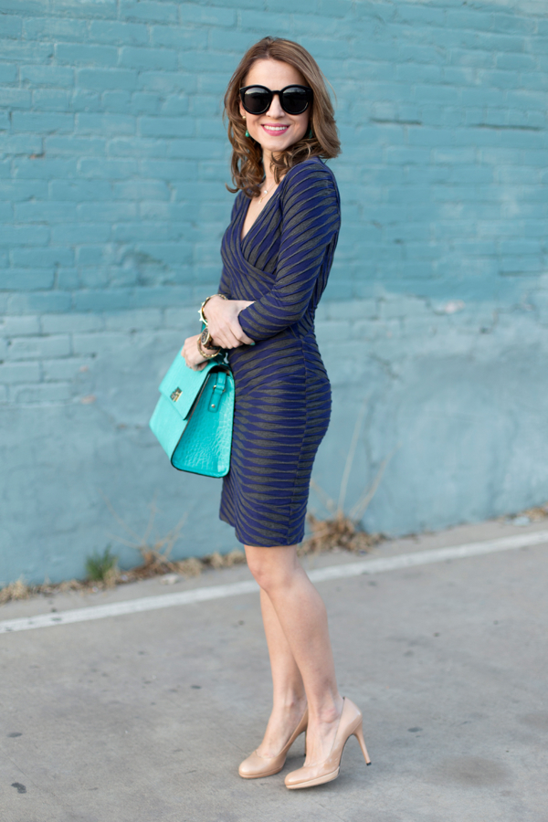 Pieced Column Dress