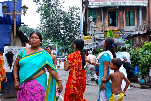 people on the streets of Kolkata