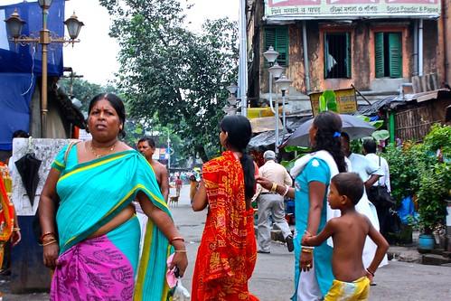 people on the streets of Kolkata