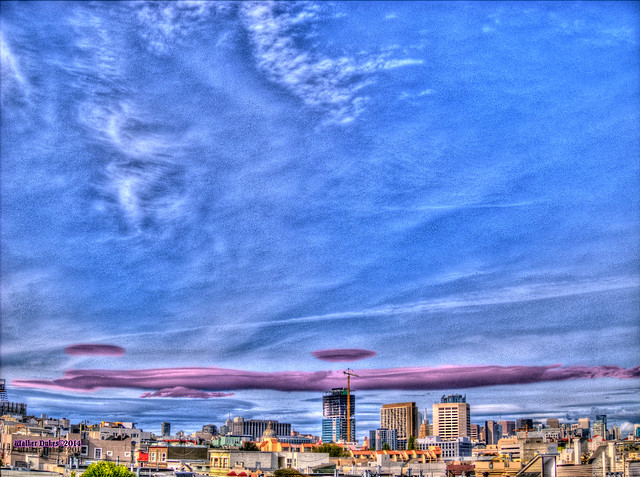 Cloud Formations with Pink Streak, HDR