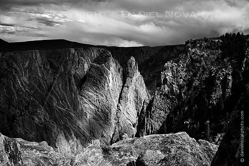 light shadow blackandwhite nature monochrome clouds river landscape outdoors nationalpark colorado rocks view unitedstates spirit delta roadtrip canyon spotlight textures co gorge montrose drama exploration viewpoint stallion gunnison blackcanyon cimarron 2013 gunnisonriver