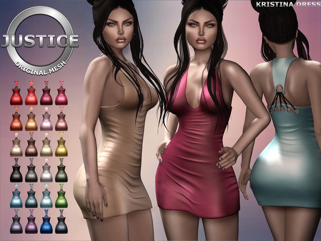 JUSTICE KRISTINA DRESS FATPACK MP - SecondLifeHub.com