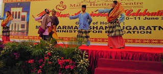 Singapore. Dancers at the Malay Heritage Centre.