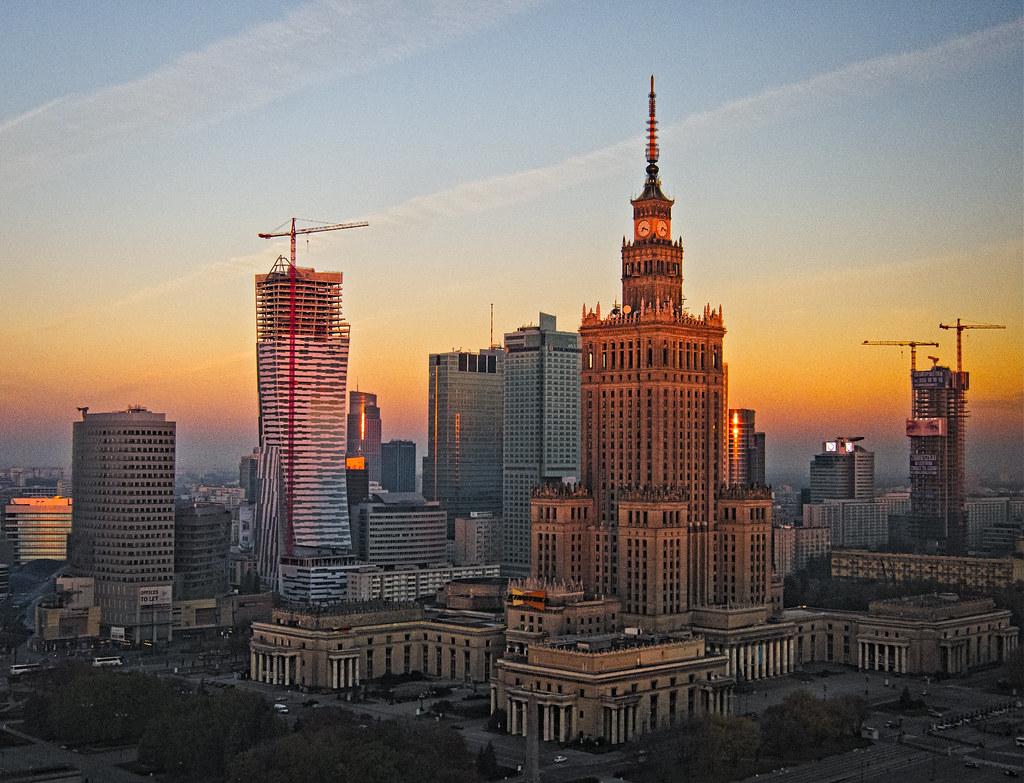 Warsaw Skyline Sunrise