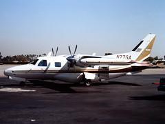 N77GA Mitsubishi Mu-2B-36 at Van Nuys, CA in Oct 1981