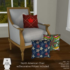[Park Place] North American Chair with Decorative Pillows