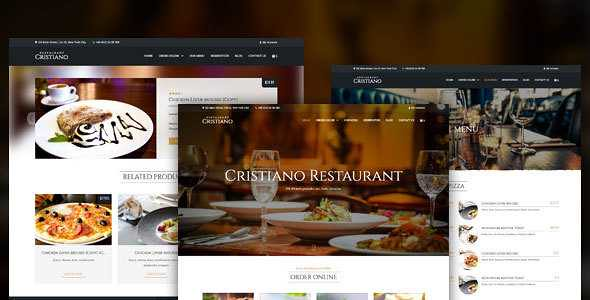 Cristiano Restaurant WordPress Theme free download