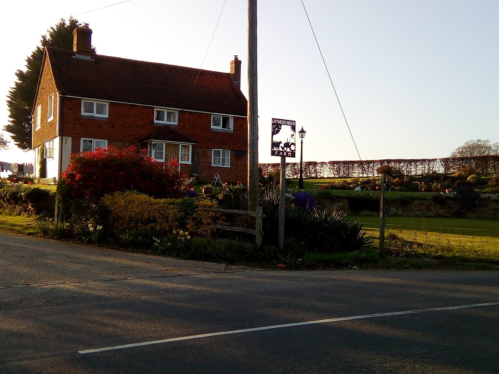 Witherenden Farm In the evening sun