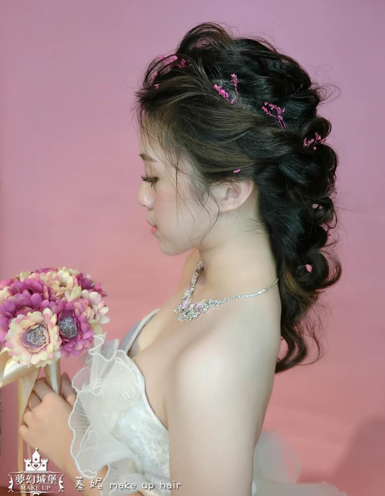 【新秘蓁妮】新娘造型創作 / 抽絲兩股編變化