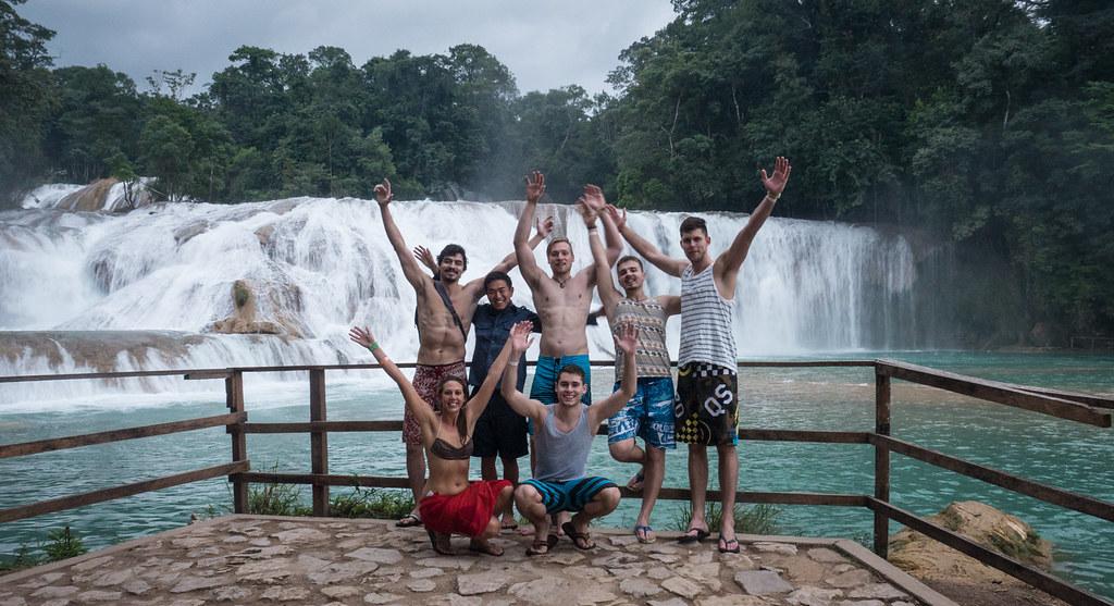 Palenque Agua Azul Falls Cascades-7