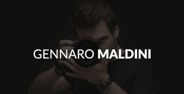 Gennaro Maldini WordPress Theme free download