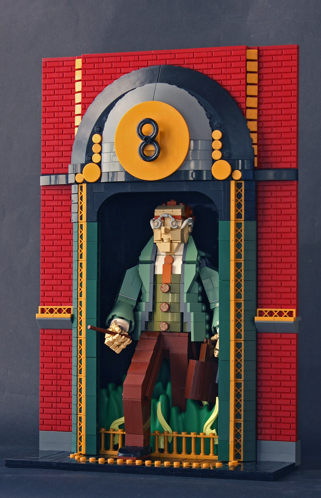 Arthur Weasley arrives to his workplace in Ministry of Magic via Floo Network (custom built Lego model)