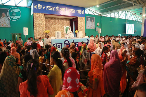 Devotees seeking blesings