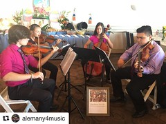 #Repost @alemany4music with @repostapp ・・・ Bishop Alemany High School String Quartet performs at the Easter Brunch @ The Odyssey. Happy Easter everyone! 🐣