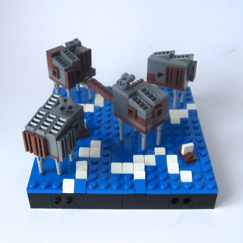 Maunsell Sea Forts (custom built Lego model)