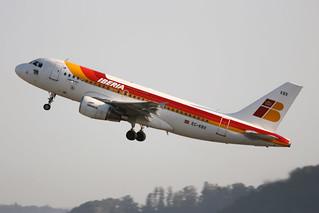 Iberia Airbus A319-111 EC-KBX