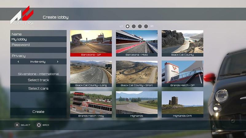 Assetto Corsa console update - Private Lobbies Screen1