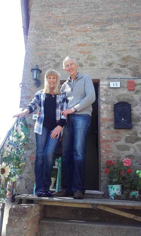 Judi and Michael outside Jumble house