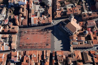 Vista aérea de la Plaza Mayor de Medina del Campo.