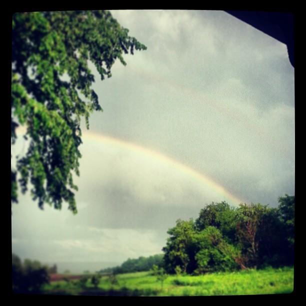 Double rainbow.