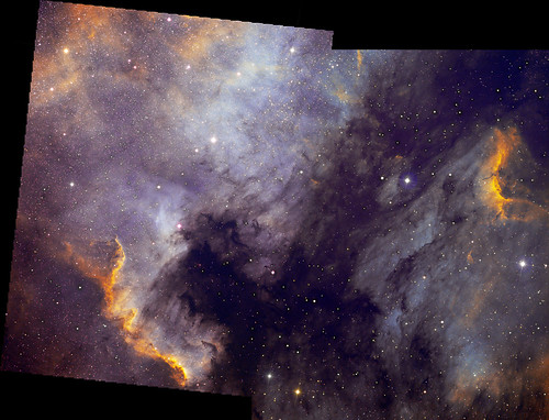 The Pelican Nebula, NGC7000 mosaic. by Mick Hyde