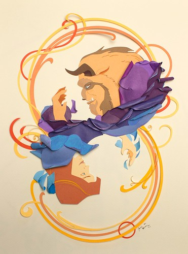 beauty-and-the-beast-paper-cutting