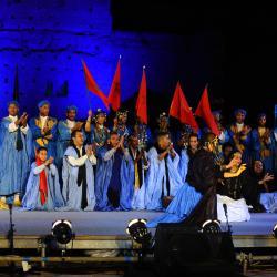 Groupe de danseurs du Sahara