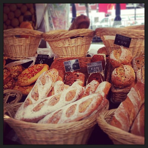 Fine #breads, I could easily be in a parisian boulangerie but I'm in the #netherlands where Saturday's #leiden street #market had this on offer - only at #Ilias's delicatessen