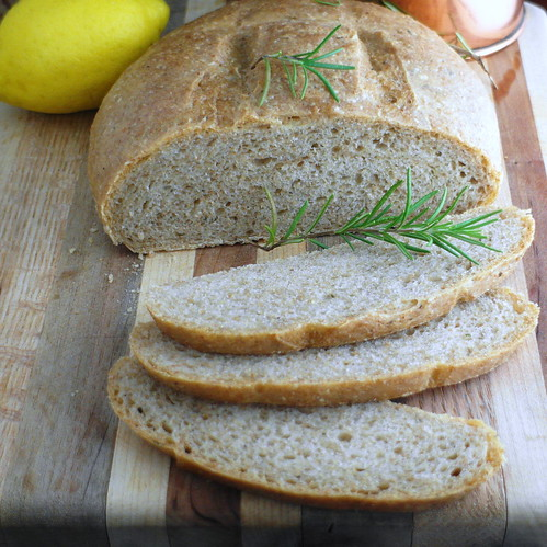 Herb Bread with Lemon and Rosemary Infused Olive Oil