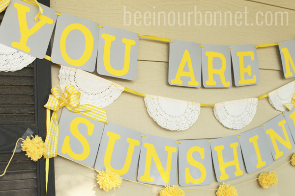 sunshine breakfast decor 2