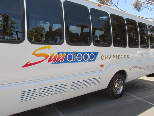 Sun Diego Charter Company International sightseeing bus.  La Jolla California.  June 2013. by Eddie from Chicago